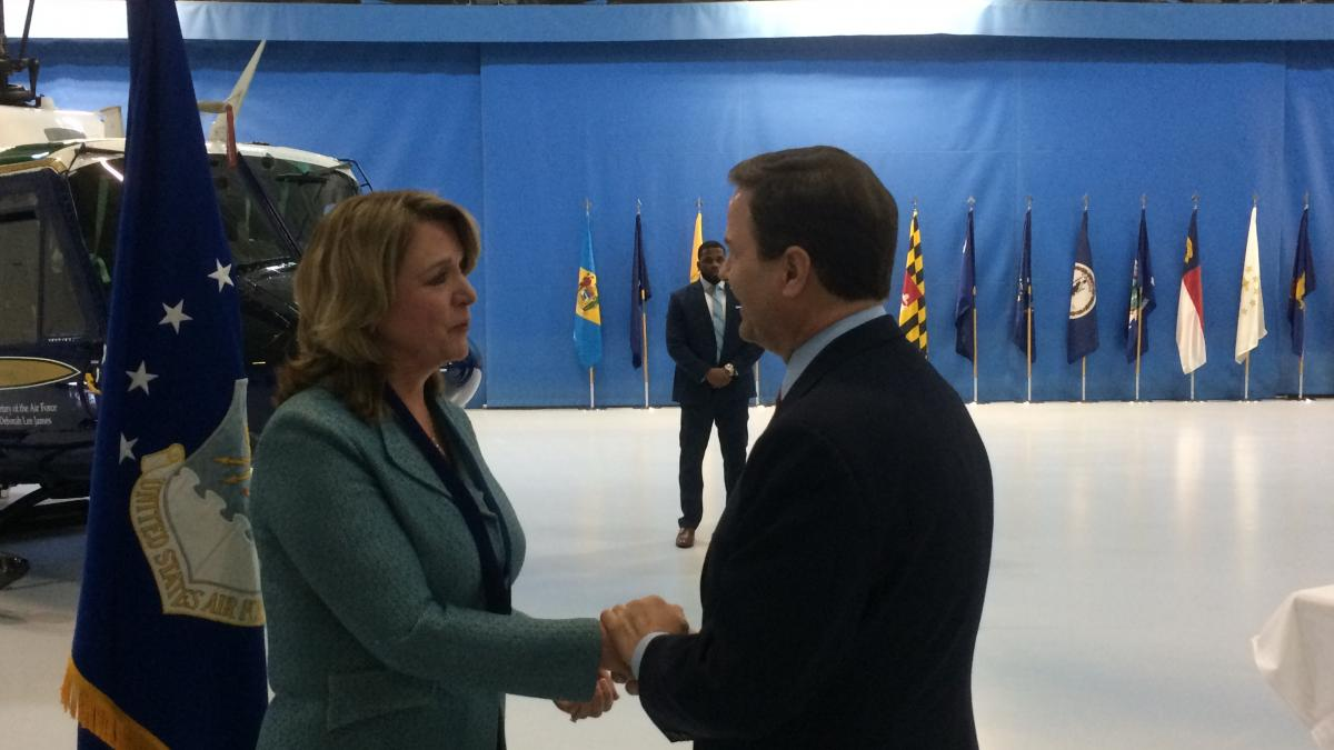 Congressman Norcross meeting with Air Force Secretary Deborah Lee James  On Wednesday, one day before the announcement